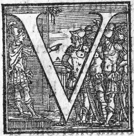 """S'occuper en temps de paix : Jules César et ses hommes jouant à """"un, deux, trois, soleil"""" dans la cour du camp à Alesia, après la reddition de Vercingétorix"""