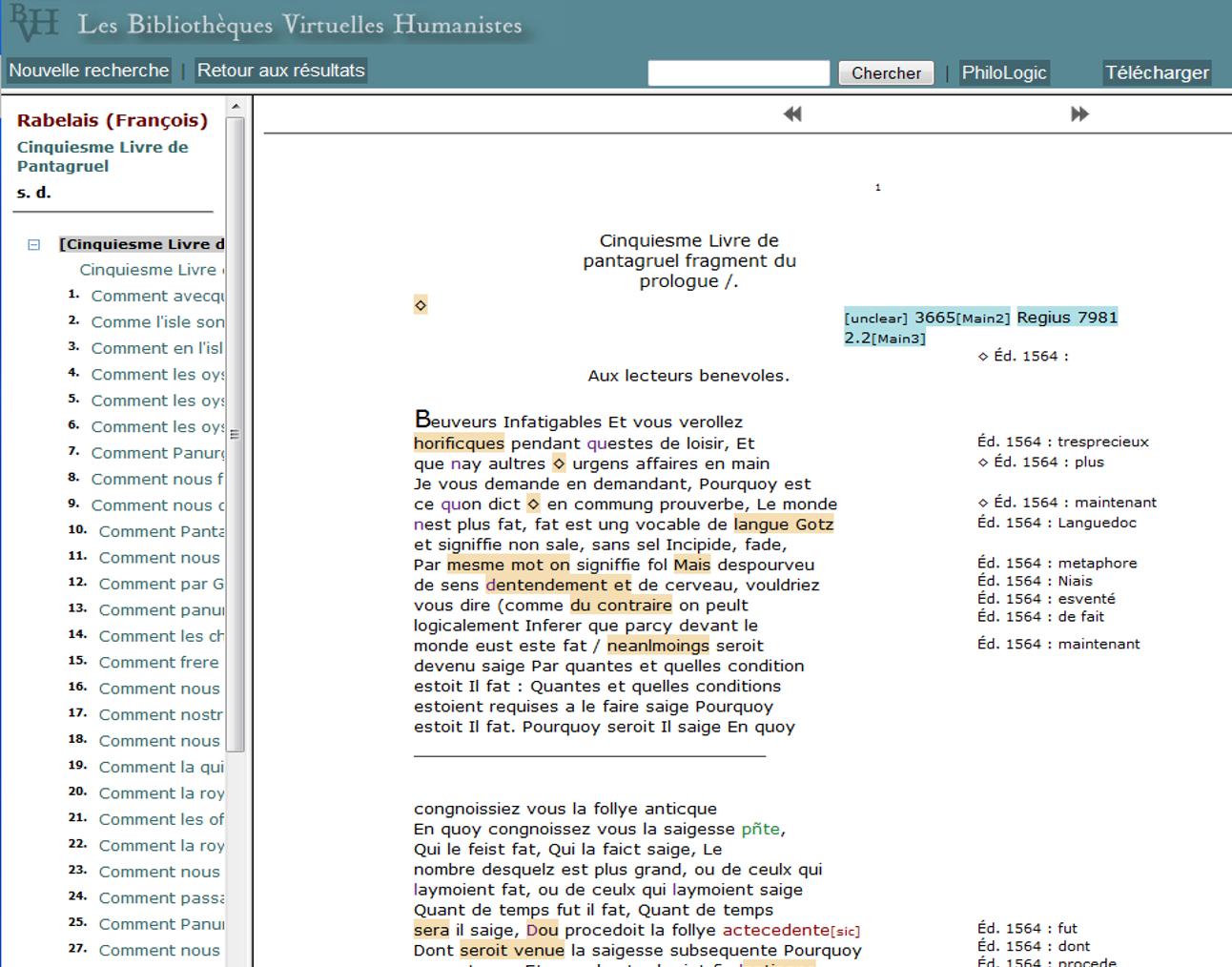 Prévisualisation du texte en cours d'encodage