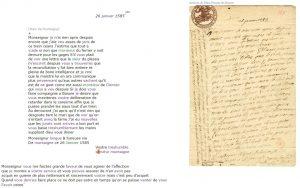 Édition d'une lettre au Maréchal de Matignon, de Montaigne, le 26 janvier 1585.