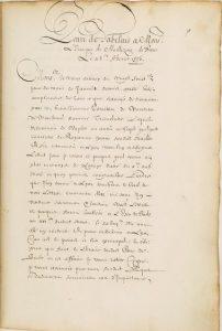 Copie d'une lettre d'Italie adressée à Geoffrey d'Estissac, 1535-1536, BNF, Département des manuscrits, Dupuy 606.